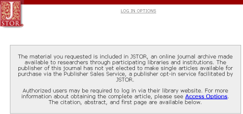 JSTOR roadblock